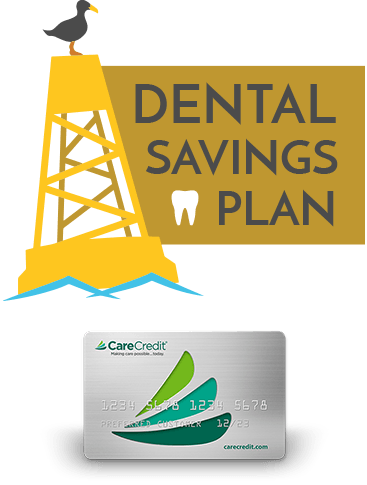Dental Savings Plan and CareCredit icons